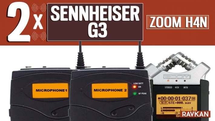 How to Connect Two Sennheiser G3 Wireless systems to a Zoom H4n 1