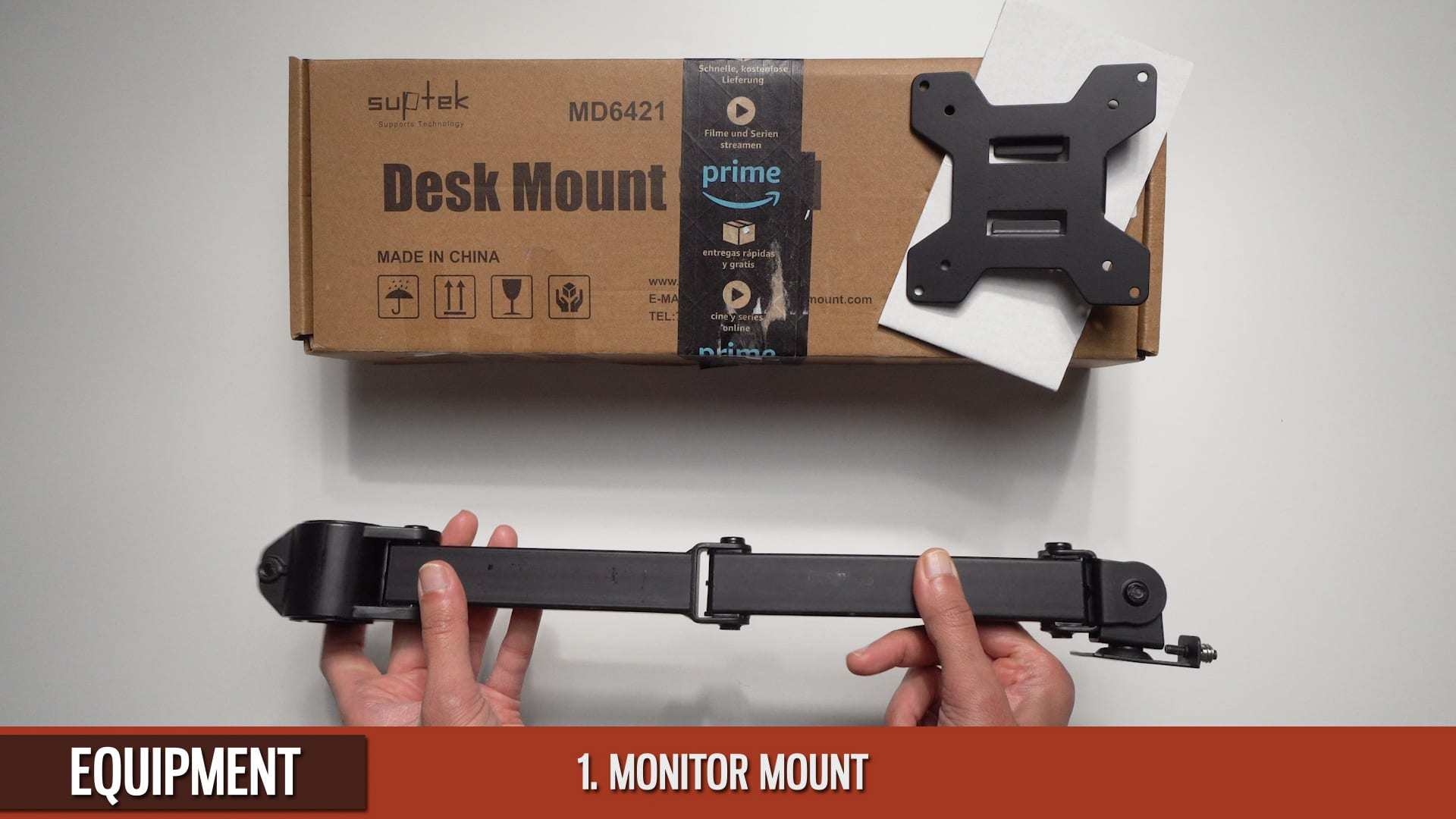 IPhone-Overhead-Suptek-Monitor Mount-Extension-Arm