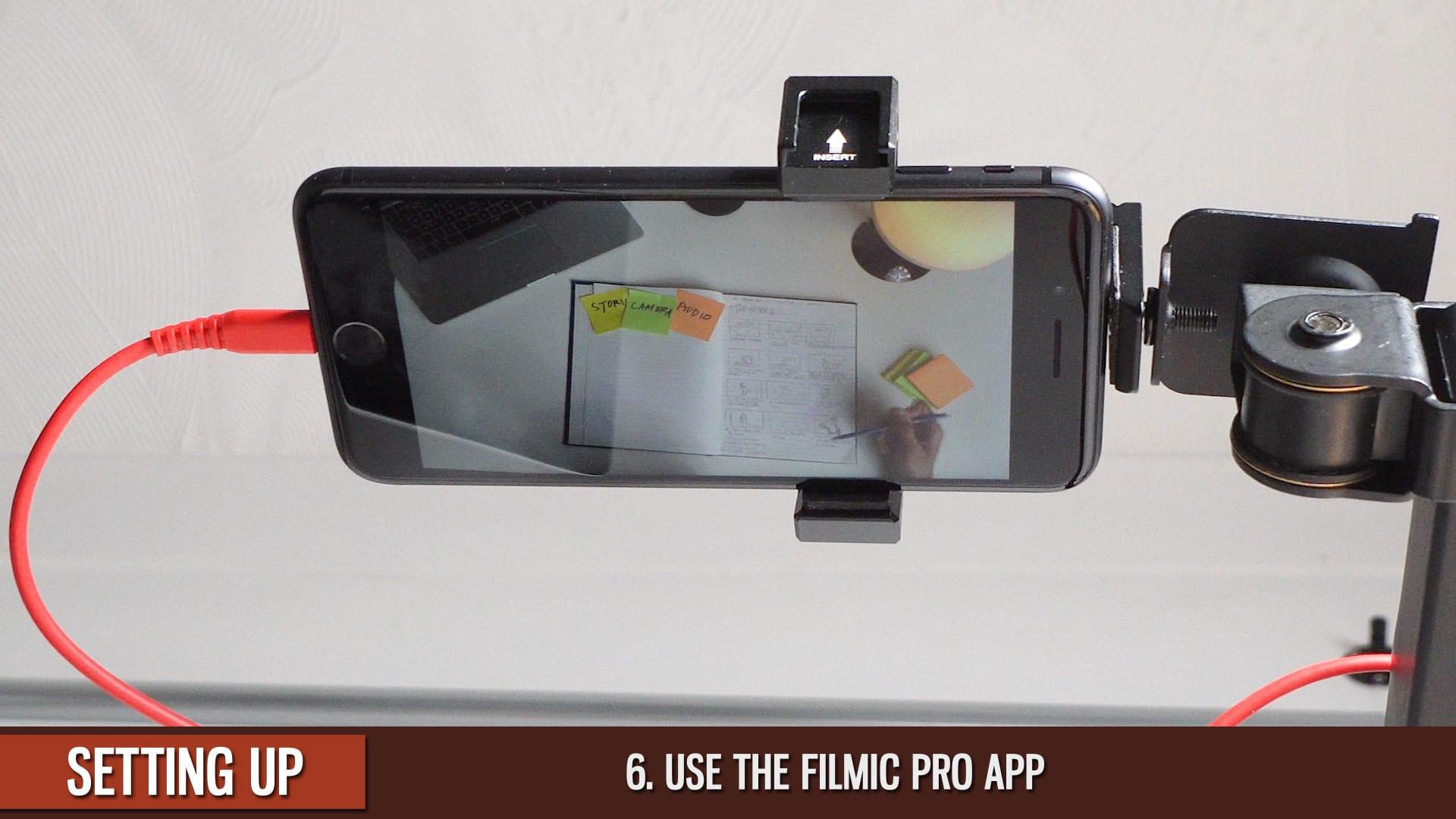 IPhone-Overhead-Use=Filmic-Pro-App